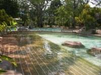 Águas Quentes com funcionamento parcial para reforma nas piscinas