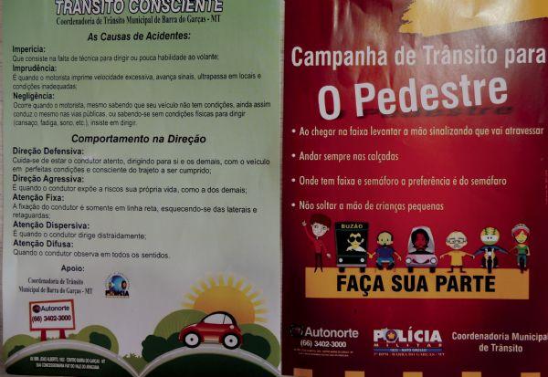 Barra do Garças lança Campanha de Trânsito Consciente e Campanha de Trânsito para o Pedestre