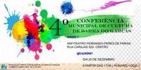 Barra do Garças realizará 4ª Conferência Municipal de Cultura