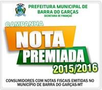Campanha Nota Premiada em Barra do Garças fará sorteio dia 27 de maio
