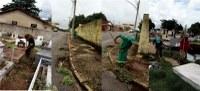 Comitê contra dengue faz limpeza em cemitério e recolhe entulhos