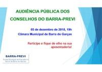 Conselhos do BARRA-PREVI farão Audiência Pública para prestação de contas nesta quarta-feira