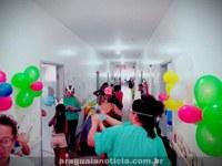 Crianças recebem festa de páscoa no hospital de Barra do Garças
