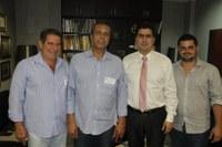 Deputado Emanuel Pinheiro recebe autoridades de Barra do Garças