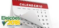 Eleições 2018 – Confira o calendário com as principais datas