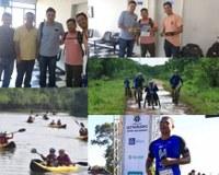 Equipe do Ultramacho chega a Barra para mapear local das provas de corrida em trilha, pedal e remada dia 6 de agosto