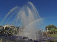 Fonte da Praça da Matriz volta a funcionar após reparos