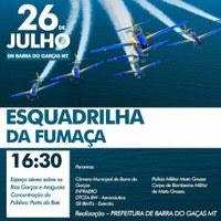 Força Aérea Brasileira fará palestra em Barra antes da apresentação da esquadrilha da Fumaça