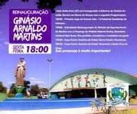 Ginásio Arnaldo Martins será reinaugurado hoje às 18h