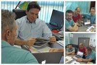 Grupo Italiano reafirma interesse na construção de casas populares para servidores Municipais