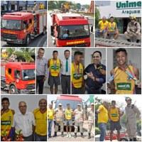 Lucas desfila em carro aberto e recebe homenagem da Unimed Araguaia e Corpo de Bombeiros