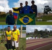 Lucas Pinho Leite é medalhista de ouro no Sul-Americano de atletismo