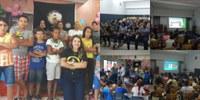 """PMMT e parceiros do Projeto Social """"Águias do Tatame"""" oferecem palestras educativas em comemoração ao Mês das Crianças no 2° Batalhão de Polícia Militar"""