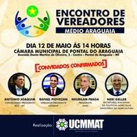 Pontal do Araguaia vai sediar o Encontro de Vereadores do Médio Araguaia