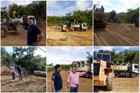 Prefeitura de Barra faz seções de manilhas no córrego Pitomba para garantir o tráfego de veículos na MT-100