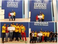 Troco Solidário Havan entregou cheque de 17 mil ao Barra do Garças Associação de Atletismo