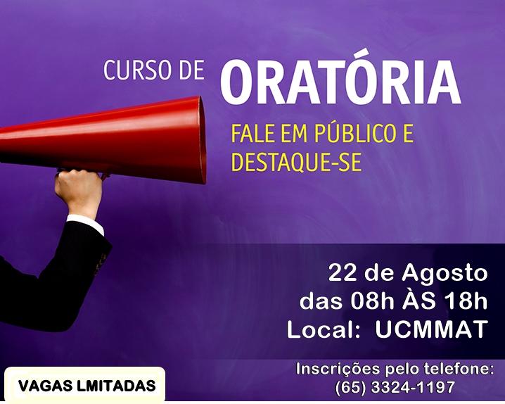 UCMMAT abre 40 vagas gratuitas para curso de oratória