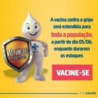 Vacina da gripe está disponível para toda a população de Barra do Garças
