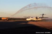 Voo inaugural da Azul para Goiânia tem lotação, 'batismo' foi no aeroporto de Barra do Garças