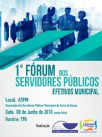 1º Fórum dos Servidores Públicos Municipal acontece nessa sexta-feira