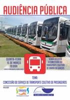 Audiência pública discute concessão de transporte coletivo nessa quinta-feira
