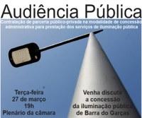 Câmara sedia segunda audiência pública sobre concessão da iluminação pública através de parceria público-privada