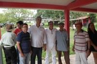 Miguelão e Pebinha fiscalizam reforma das estradas vicinais do Serra Verde