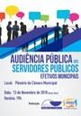 Novas estratégias serão debatidas na IV Audiência Pública dos Servidores Municipais