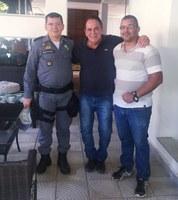 Vereador Paulo Raye recebe Comandante Souza para discutir saúde e segurança em Barra do Garças