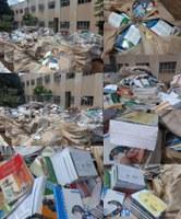 Zé Gota denuncia descarte de livros