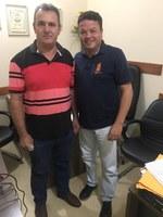 Vereador Murilo Valoes recebe visita do Presidente da Câmara de Novo São Joaquim.